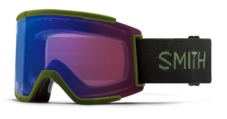 新品18-19 Smith Goggle スミス SQUAD XL MossSurplus Chromapop調光 送料無料 ゴーグル スノーボード
