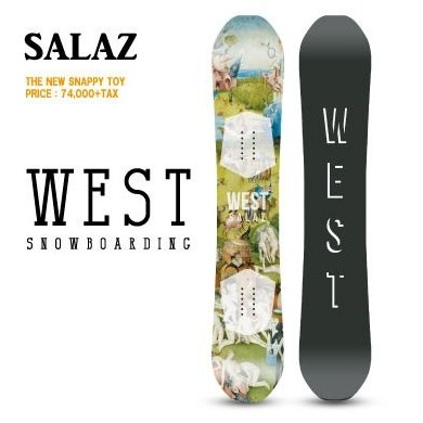 18-19 West Snowboarding SNOWBOARD ウエスト スノーボード SALAZ パーク バックカントリー サーフライド フリーライド ハイブリッド キャンバー