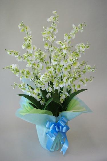 造花 オンシジューム6本立 Mサイズ H77cm  人工観葉植物