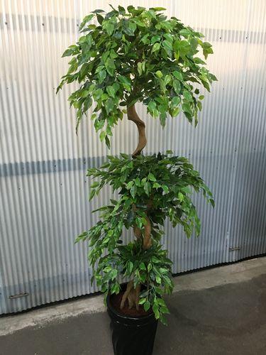 人工観葉植物 ベンジャミン3段 H190cm