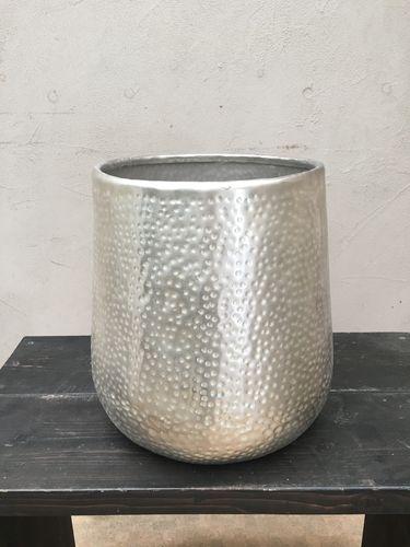 アルミ製たたき出し仕上げ 鉢カバー 8号鉢サイズ 観葉植物 インテリア 鉢