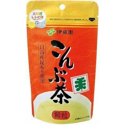 【送料無料】【3袋セット】伊藤園こんぶ茶 顆粒(70g)日高産昆布使用 温かくても冷たくても美味しい 料理レシピ付 ほっこりする味 リピートがとても多い商品です。昆布茶 お湯だし 冷温両用 PT倍増