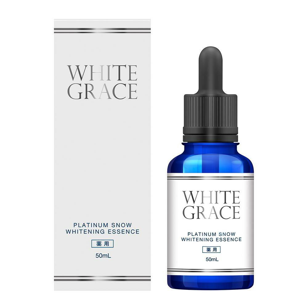 薬用美白美容液 WHITE GRACE ホワイトグレイス プラチナムスノーホワイトニングエッセンス 透明感のある生まれたての美白肌へ 保湿 若返り リフトアップ ハリ 弾力 保湿