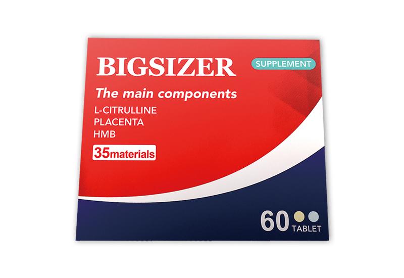 ビッグサイザー BIGSIZER 60粒 1箱30日分 18000mg 成分増大 アルギニン シトルリン 亜鉛 マカ マムシ スッポン ビタミンE、パントテン酸、パフィア、ビタミンB2、HMB、葉酸、ビタミンA、ビタミンD、ビタミンB12 ムイラプアママムシ、サソリ トンカットアリなど