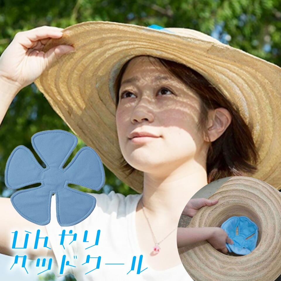 帽子に入れて頭を冷やす熱中症対策に。涼感特殊素材使用 ヘッドクール 頭ひんやりクールダウンパッド 帽子 ぼうし 冷やす 頭 ひんやり 冷たい 涼感 熱中症対策 冷感 クール 熱中症 夏 汗 吸水 蒸散 子供 大人