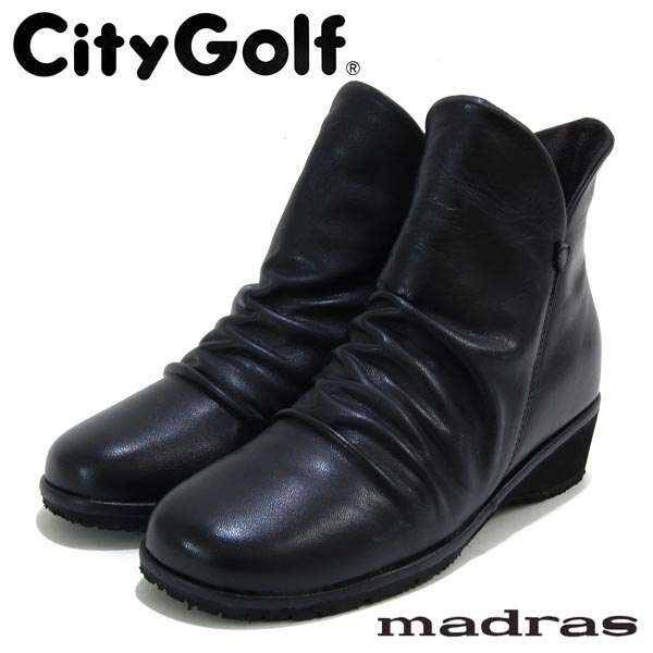 シティゴルフ CityGolf マドラス社製 革くしゅくしゅショートブーツ