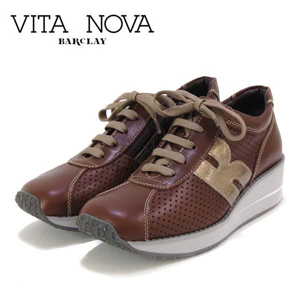 クッションがあり歩きやすく コンフォート性のあるスニーカーです スタイリッシュなデザインで 大人っぽいファッションに合います ビタノバ VITA 定番厚底 レザースニーカ- SEAL限定商品 ラッピング無料 革 NOVA