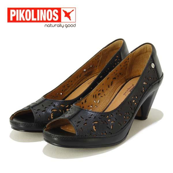 レザーカットが大人っぽいです クッション性も良く歩きやすいです PIKOLINOS ピコリノス 新作製品、世界最高品質人気! 革 レザーカット パンプス オンラインショップ オープントゥ