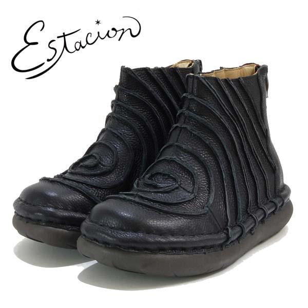 エスタシオン Estacion 革 ぐるぐる ショートブーツ