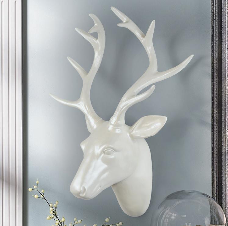 【最大ポイント 50倍!】壁掛けインテリア ウォールデコレーション 飾り 鹿 オブジェ クラシック おしゃれ インテリア ゴージャス ゴールド HM-1640 【 GMS01673 】