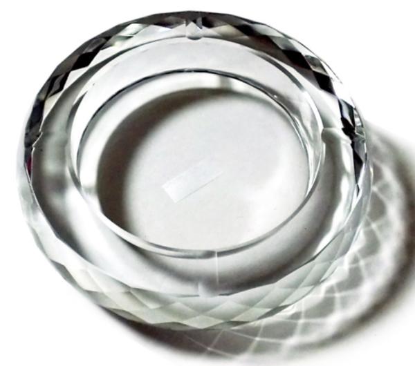 【対象商品ポイント15倍】【スーパーDEAL開催中】GMS00877C-18 送料無料 G-HOUSE(ジーハウス) 高級 クリスタル ガラス製 灰皿 HM-0835(クリア、18cm) 【 GMS00877C-18 】 【hween_d19】