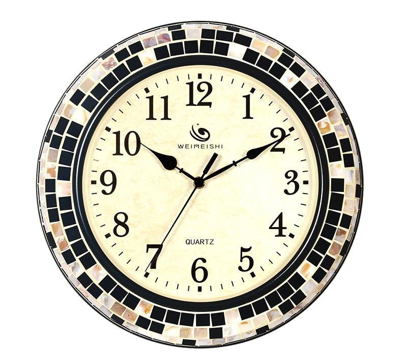 【スーパーセール開催中】【最大50%OFF】GMS01545 掛け時計 壁掛け時計 貝殻 38センチ 綺麗な時計 ゴージャス 高級 おしゃれ モダン 新築 店舗 送料無料 HM-1509 【 GMS01545 】