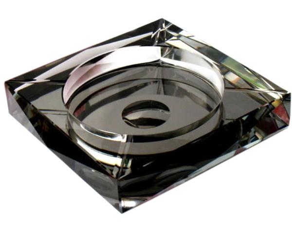 高級クリスタルガラス製 灰皿 20cm HM-0479-20【プレゼント】【 お祝い】【 記念品】【ギフト用】【父の日】G-HOUSE(ジーハウス)