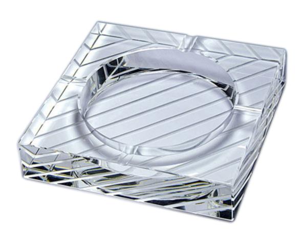 G-HOUSE(ジーハウス) 高級 クリスタル ガラス製 灰皿 ストライプ HM-0613 【プレゼント】【 お祝い】【 記念品】【ギフト用】【父の日】 【 GMS00655 】