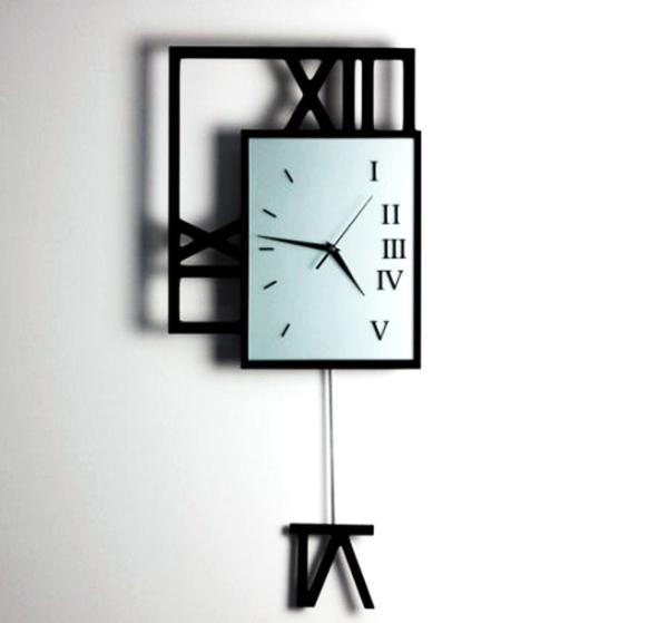 G-HOUSE(ジーハウス) 高級 おしゃれ モダン アート デザイン 壁掛け 振り子時計 HM-0928(L) 【 GMS00970-L 】 【winter_sp_d】