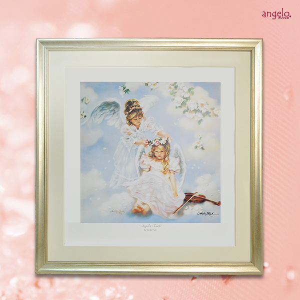 ランキング受賞【アンジェロ】Angel's Touch『海外直輸入』サンドラクック 天使額絵Sandra Kuck日本製フレーム 【HLS_DU】