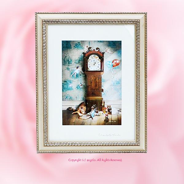 スーパーセールイギリス 英国製アート絵画ヒッコリーデイッコリー(時計の響き)妖精の写真家Charlotte Birdのフォトグラフ 父の日  ギフト対応 あす楽