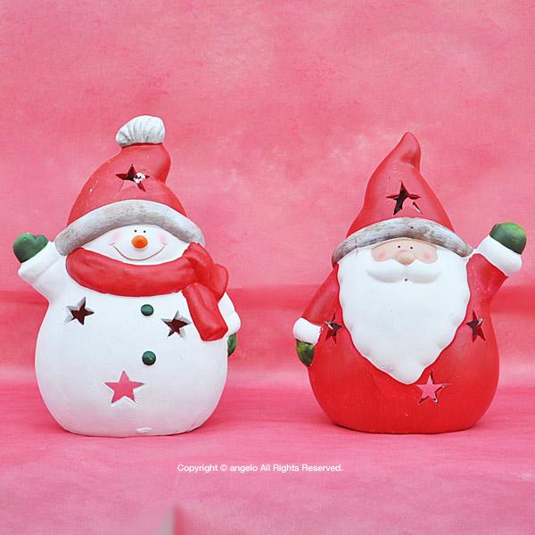 2個で5000円ポイント10倍/2個クリスマスセット  オーナメント・デコレーション サンタクロース置物ランプスノーマン/サンタ/素焼/サンタ/この商品は12月21日12月22日土日も休まず東京都から発送致します。