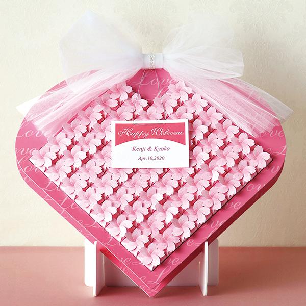 桜ボックス60個セット プチギフト 結婚式 ウェディング 披露宴 名入れ オーダー お菓子