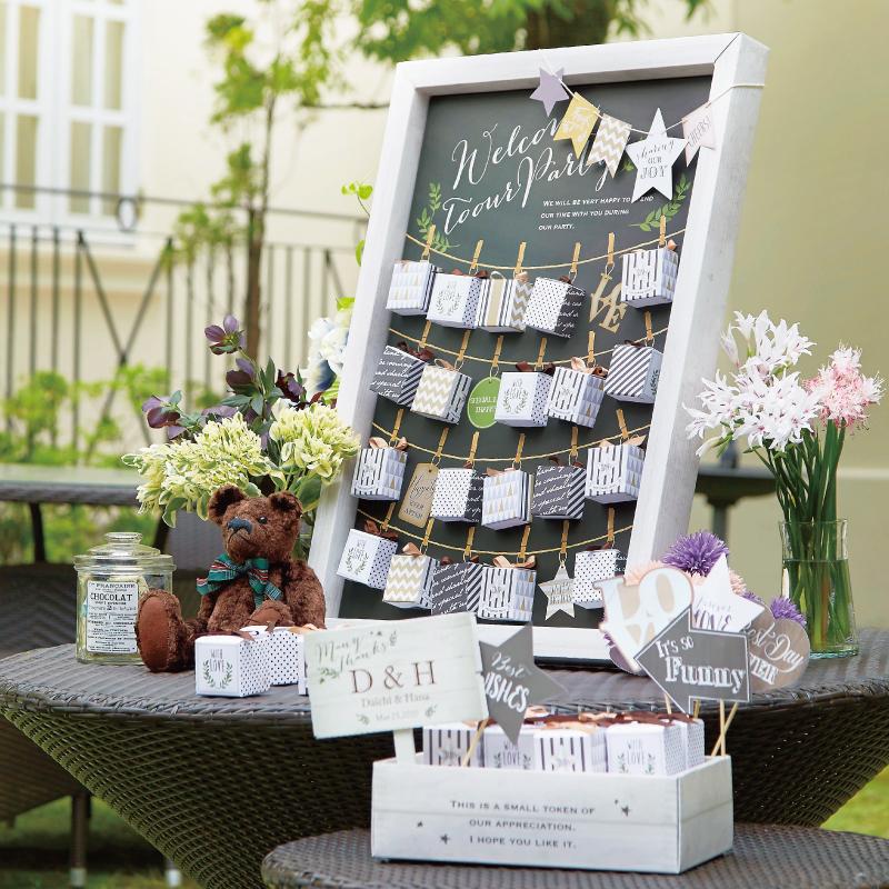 Joy Garden(ハートクッキー)48個セットプチギフト 結婚式 ウェディング 披露宴 名入れ オーダー お菓子[HF]