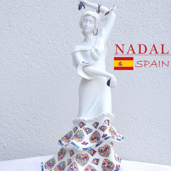 【高さ33cm 】日本では手に入らない!スペイン直送 ナダル人形 フラメンコ 陶器 フィギュア