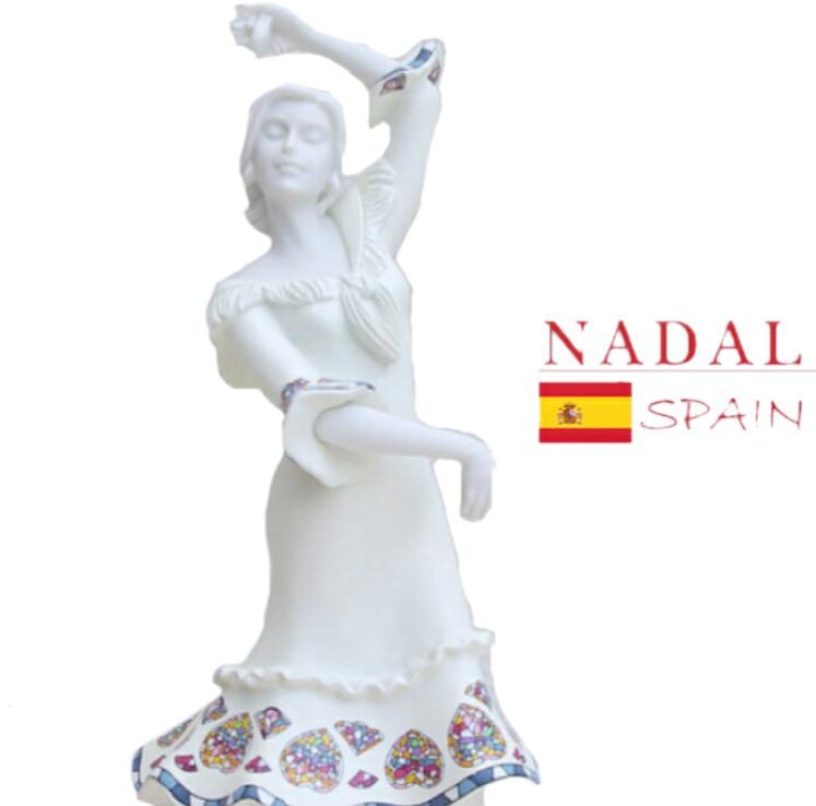 【高さ20cm 】日本では手に入らない!スペイン直送 ナダル人形 フラメンコ 陶器 フィギュア