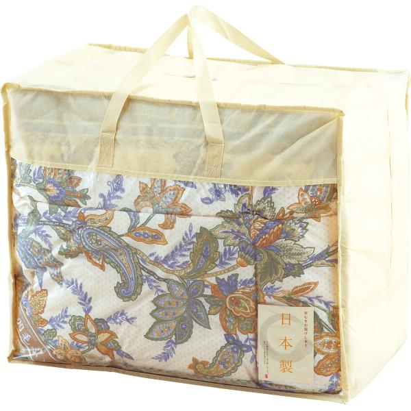 贈り物ならギフト専門店に任せて安心 日本製 直営限定アウトレット ダウン85%入羽毛ふとん ブルー ギフト お返し 日時指定 プレゼント 内祝 御祝