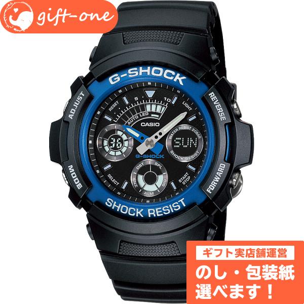 メンズ おしゃれ 腕時計【AW-591-2AJF】 祝い お返し メッセージカード SS ギフト おしゃれ G-SHOCK 腕時計 お名入れカード プレゼント