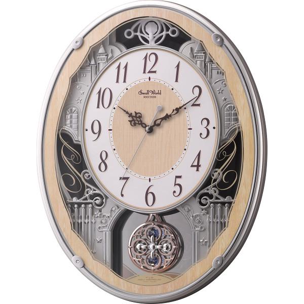 スモールワールド メロディ電波掛時計(30曲入) 4MN538RH23