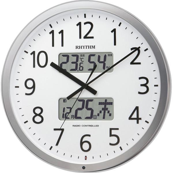 リズム プログラムチャイム付電波掛時計 4FN403SR19
