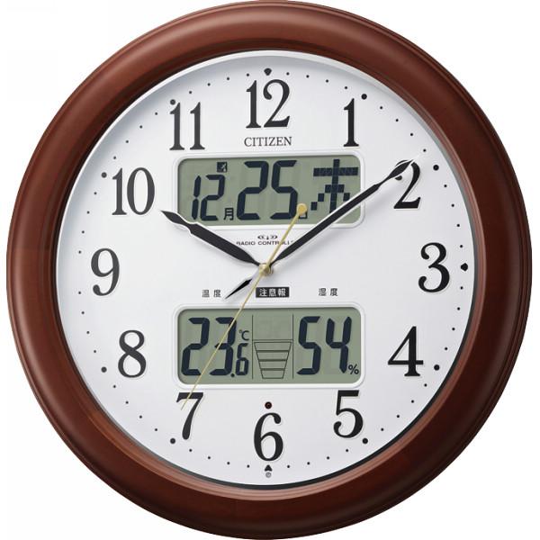 シチズン 温湿度計付電波掛時計(自動点灯ライト付) 4FY620‐006
