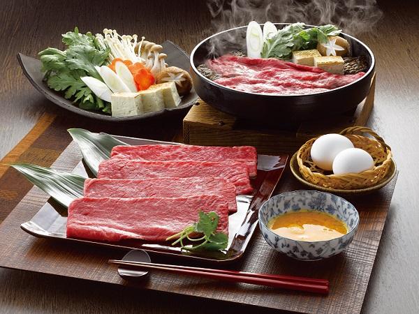 松阪牛すきやき肉(もも肉・ばら肉)計400g【送料無料】