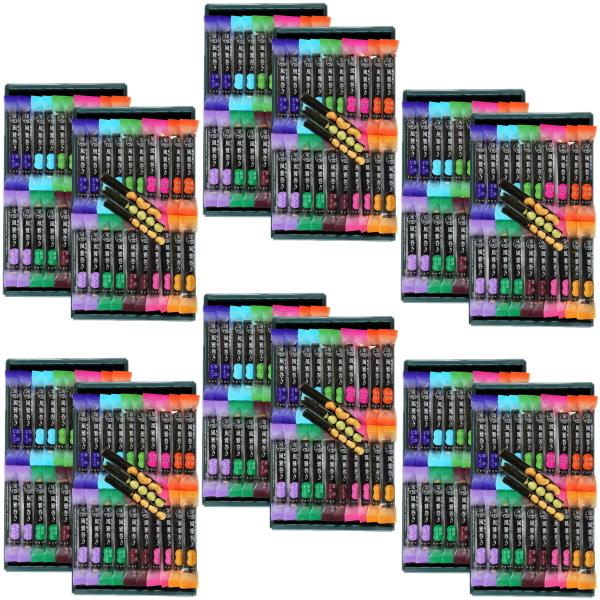 """【大量購入】海苔菓子 風雅巻き (FA-50) 1箱(10種類64本入)×6箱まとめてお届け【送料無料】""""熊本県産"""""""