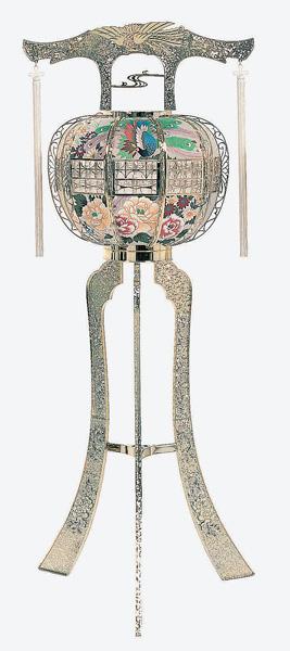廻転灯(かいてんとう)へいせい ゴールド回転筒付(1個)高さ124cm※電装コード式(T517)