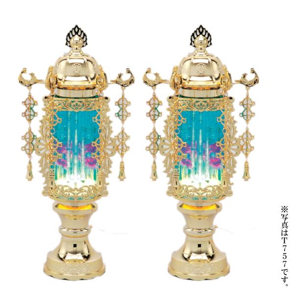 【送料無料】バブル灯7号ブルー(1対・2個) 高さ33cm※電装コード式(T257)