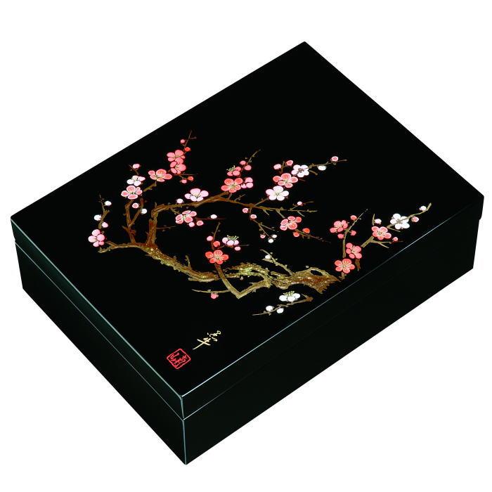 【送料無料】【紀州漆器】文庫11.0合口文庫黒 香林MDF(23-69-2)
