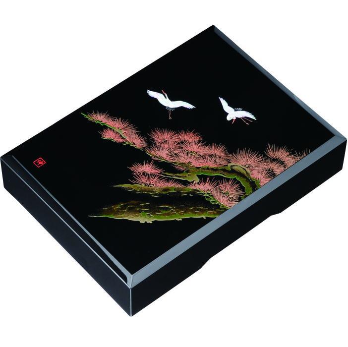 【送料無料】【紀州漆器】文庫11.0加伏文庫黒 飛祥MDF(23-70-1)