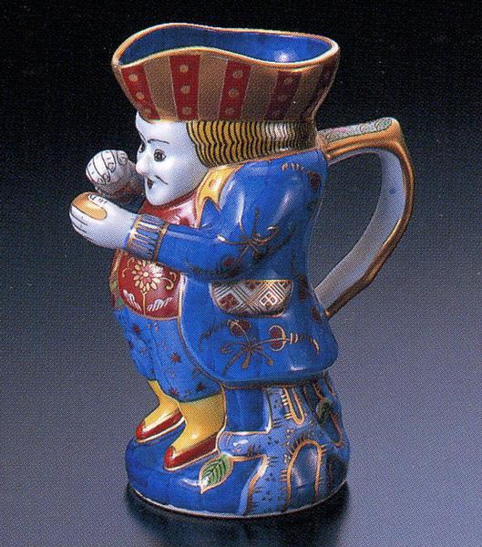 染錦紅毛人 酒瓶【古伊万里様式】 林九郎窯(2206303)