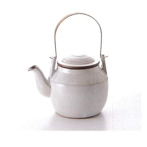 【波佐見焼】波佐見土瓶粉引DOBIN(土瓶)巾着付1個入(クラフト箱入)(224029C300)【送料込み価格】