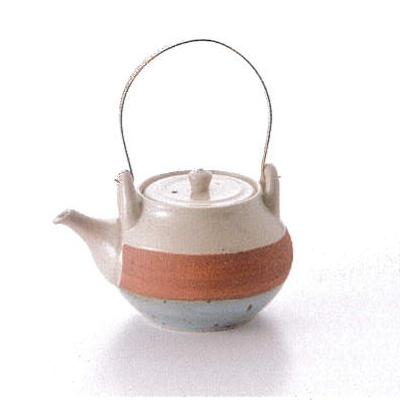 【波佐見焼】波佐見土瓶ホワイトボーダーDOBIN(土瓶)巾着付1個入(クラフト箱入)(610143C300)【送料込み価格】