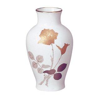 大倉陶園 金触バラ 28cm花生花器/花瓶【c】