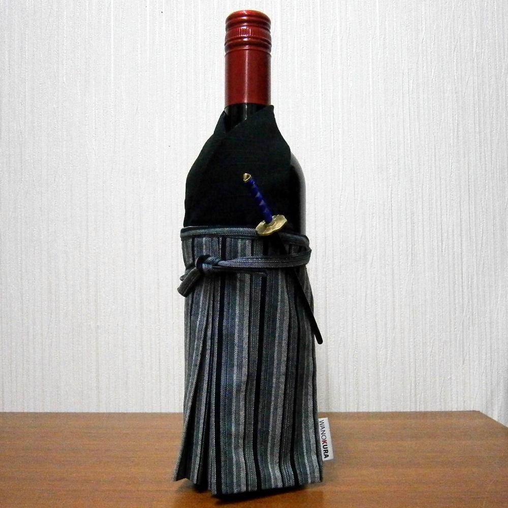 Kimono bottle cover kimono bottleware samurai black 07