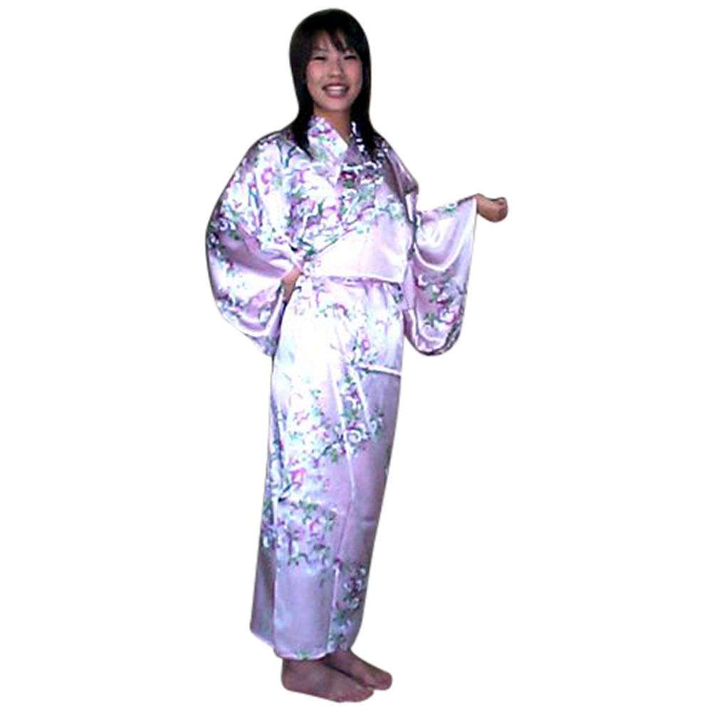 外国人向けシルク着物さくら ピンク【送料無料】【外国人向け着物】【日本のおみやげ】【日本のお土産】【ホームステイのおみやげ】【シルクローブ】