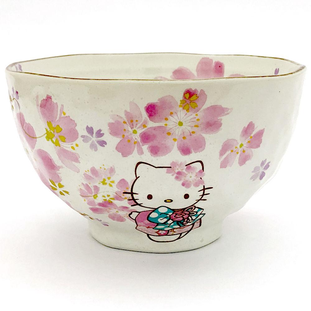 もらった人もあげた人も笑顔になれるキティちゃんグッズです キティちゃん ご飯茶碗 桜HELLO KITTY キティ サンリオ ハローキティ kitty 小物 陶器 卸直営 雑貨 磁器 はろうきてぃ和柄 最安値挑戦 キティグッズ 茶碗 美濃焼