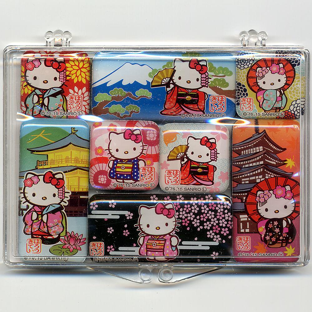 あす楽_土曜営業 外国人が喜ぶ日本のお土産 大好評 キティちゃん日本マグネット 8個セットハローキティ Hello 買取 迅速な対応で商品をお届け致します ホームステイのおみやげ Kity 日本のおみやげ メール便 日本土産 送料無料