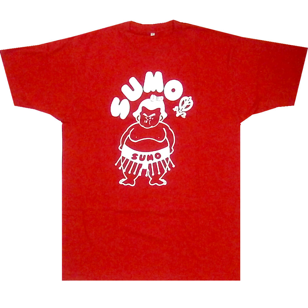 Interesting T-shirt SUMO sumo red white 2L size