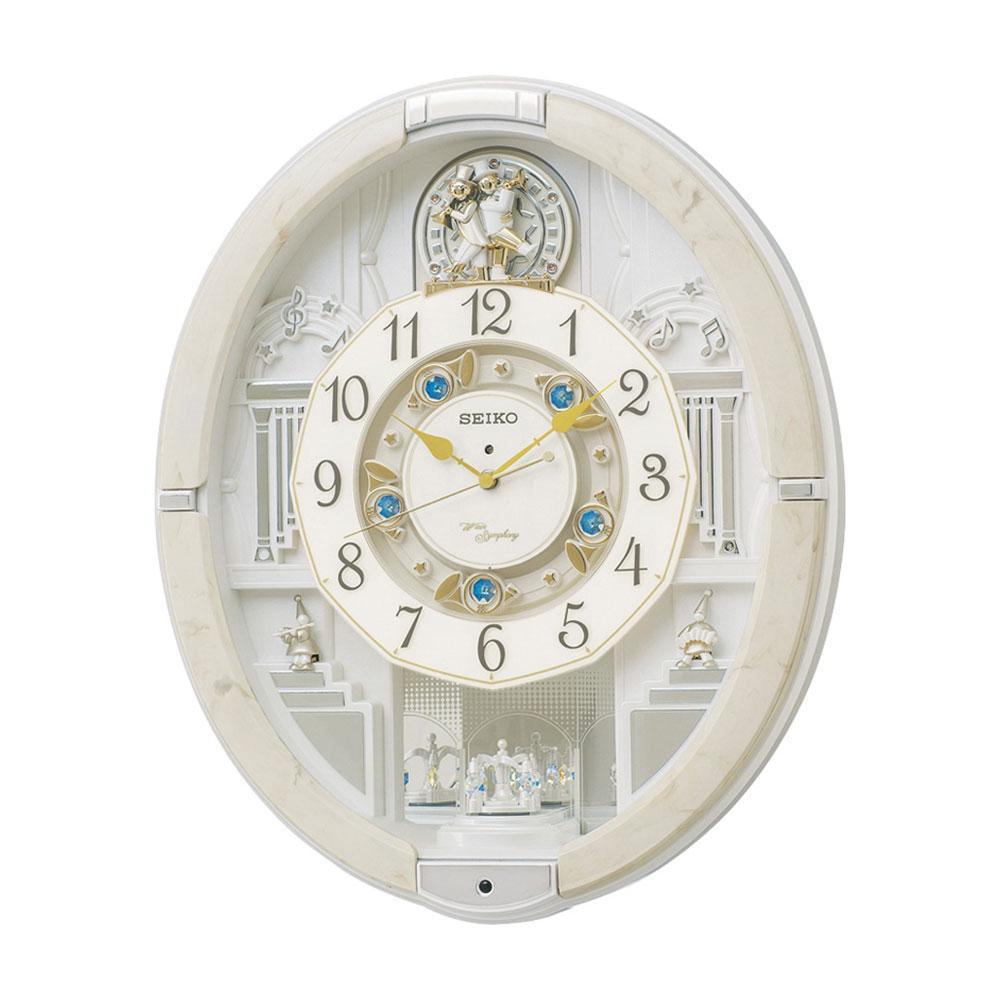 名入れ対応可 電波時計 掛け時計 RE576A /セイコー からくり電波掛時計 RE576A新築祝い 竣工記念 開店祝い 開業祝い