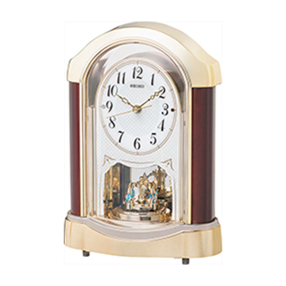 スーパーセール 9月 名入れ対応可 電波時計 置き時計 | セイコー 電波置時計 BY237G | 置き時計 | お祝い 竣工 設立 新生活 記念品 プレゼント