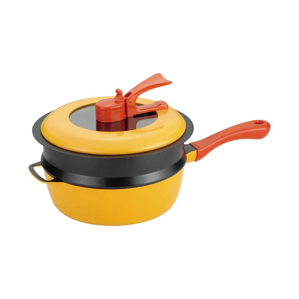 レミ ヒラノ 鍋 レミパンセット(ノッポ蒸し台付) 24cm 内祝い 記念品 婚礼 結婚 家庭料理