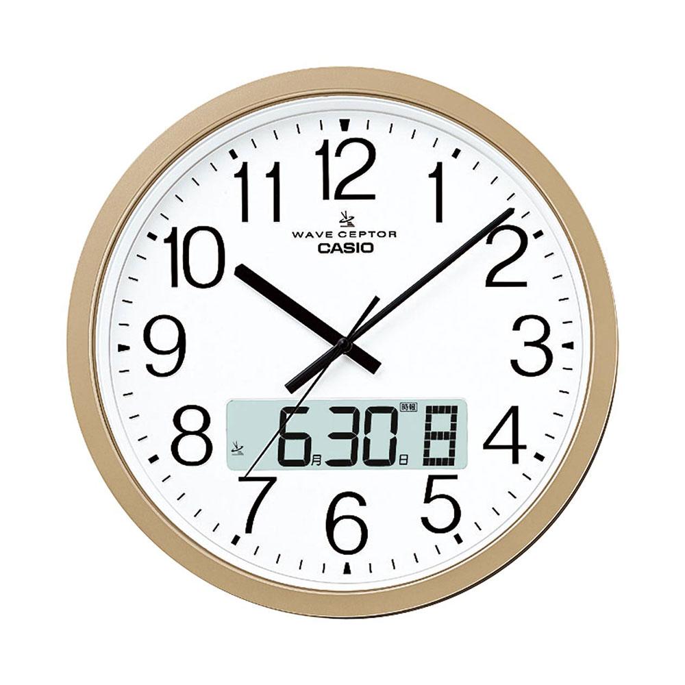 名入れ対応可 電波時計 掛け時計 IC-4100J-9JF /CASIO カシオ 掛時計 ウェーブセプター 大型電波 IC-4100J-9JF新築祝い 竣工記念 開店祝い 開業祝い